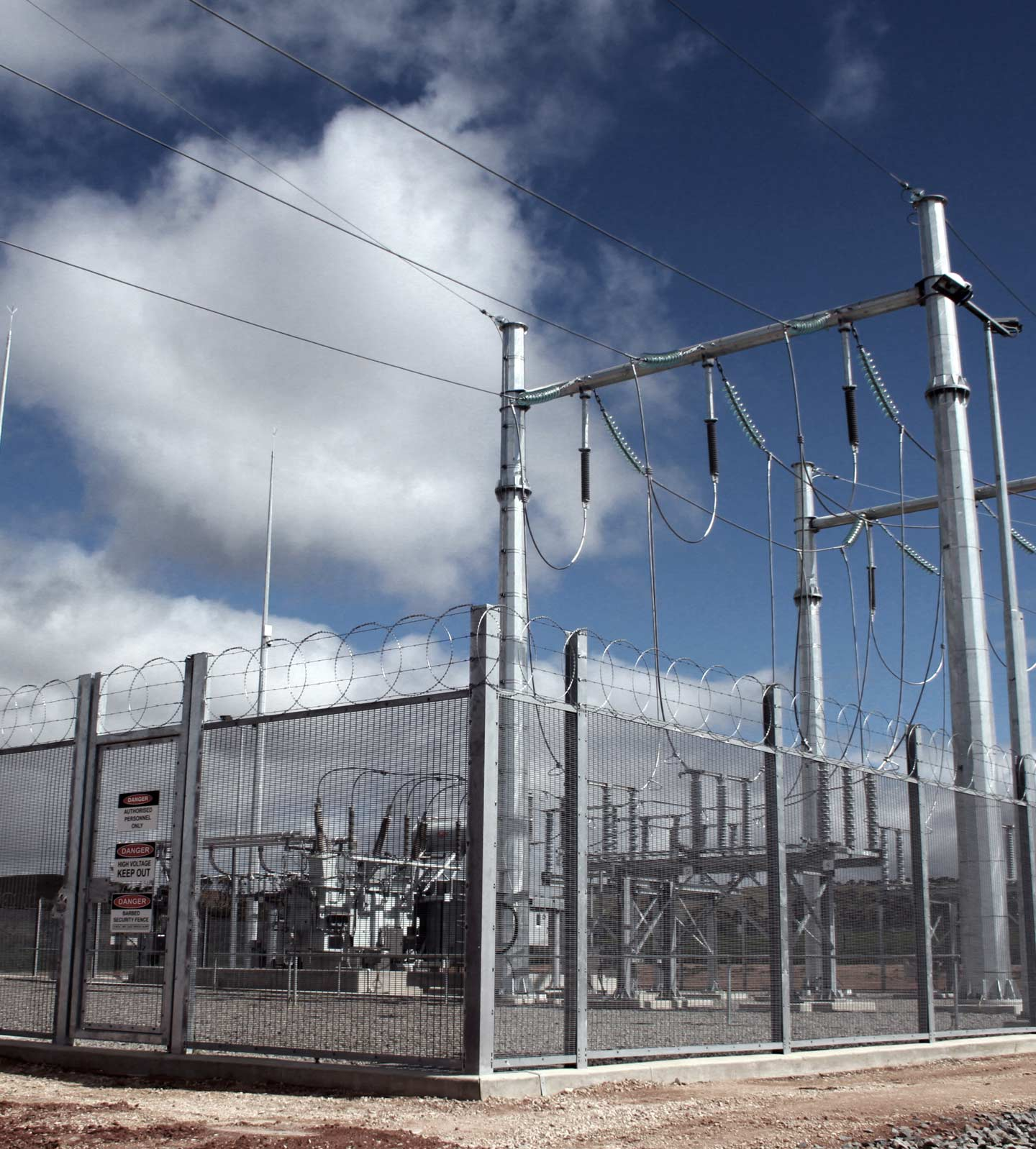 Substation fencing.